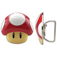 Nintendo 2Up Mushroom Belt Buckle