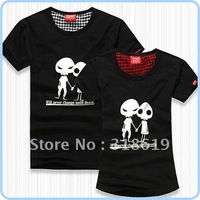 All Matched Cotton short sleeve T shirt Alien For Men and Women Free Shipping NZ008