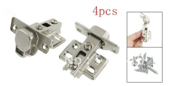 4 Pair Furniture Hardware Buffer Metal Concealed Cabinet Hinge