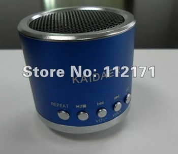 Mobile Speaker original KAIDAER KD-MN01 TFcard portable speaker,100% cool quality+mini round speaker+Gift box pack