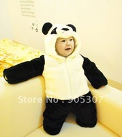 Baby winter animal romper 2012 New Cute Panda Romper ,fleece Romper Jumpsuit climbing clothes,free shipping 3pcs/lot