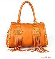 2012 Women's Fashion Punk Fringe Tassel Handbag Shoulder Bag Messenger Handbags Free shipping