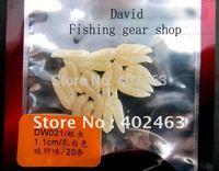 Free shipping Trulinoya fishing lure fish bait soft simulation maggots11mm Ivory Chicken liver taste  20pcs/pack * 5pack =100pcs
