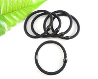 100 pieces Black Hair Elastic Ties Ponytail Holder ponies scrunchies girl women Hair rope hair accessories