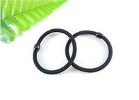 100 pieces Black Hair Elastic Ties Ponytail Holder ponies scrunchies girl women Hair rope hair accessories