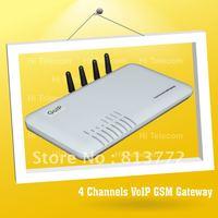 FREE Shipping!4 ports voip gsm gateway \ skype phone sip gateway