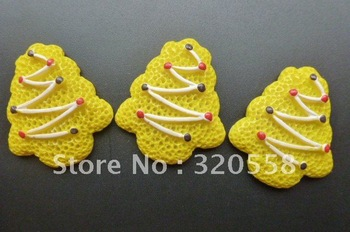 "FlatBack Resins 1.2"" Chirstmas tree cake Scrapbooking Embellishment 30pcs Free Shipping"