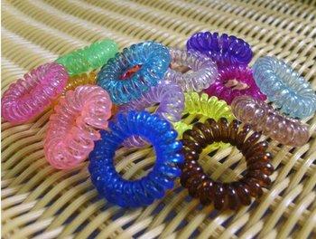 Free Ship New Korea Headwear Phone Line Elastic Hair Band Ring Hair Clip