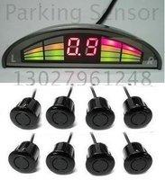 Guaranteed 100% Reverse Sensor Parking Radar New Mini LED Display Parking Sensor System with 7 Sensors + 2012 Best Selling