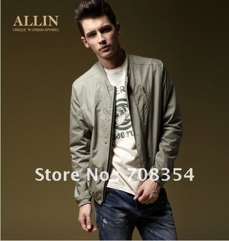 Free Shipping!New Arrival Men's Fashionable Thin Style Slim Jacket/Coat