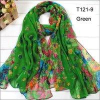 EMS Wholesale Ladies  Scarves180*110cm Mix Colors Big Shawl Flower Cotton Scarfs Women Beautiful Charm Scarf Womens Wraps Stoles