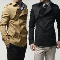Мужские изделия из шерсти retail Metrosexual man Essential Exquisite high quality wool coat Thickening windbreaker, you worth have it