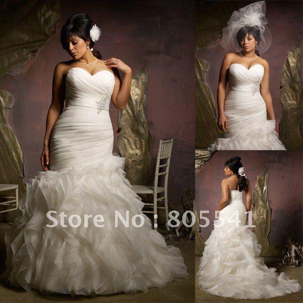 ruched organza wedding gown 2013 plus size wedding