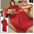 Free Shipping 1Pcs Snuggie Original Fleece Blanket with Sleeves BCRF Red As Seen On TV
