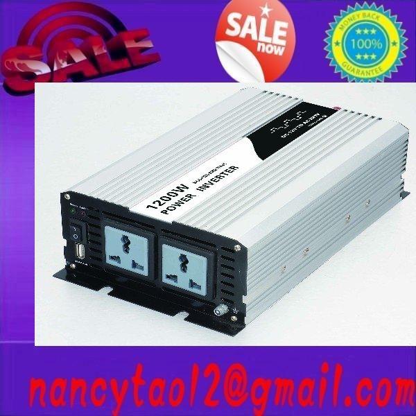 free shipping 1200W Car 12V to 220V Power Inverter with USB Power Port 12v 220v 1200w inverters(China (Mainland))