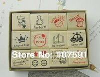 Wholesale & Retail Children Toy Stamp /New DIY Craft Wooden Stamp /Decoration Stamp Set /Top Quality