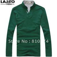 Autumn and winter basic shirt men's clothing V-neck slim male long-sleeve T-shirt male