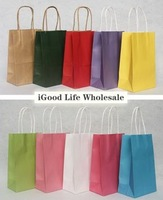 50pcs/lot 21x13x8cm kraft bag kraft paper bag kraft paper shopping bag