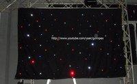 3m*4m 18 leds/SQ controller(15 programs)LED dj curtain/Cloth/ Horizon DMX  ,LED Single Color Starcloth,LED dropback