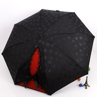 Зонт ANYTIME] Yoco small hook elargol sun protection umbrella sun umbrella folding umbrella leopard print yz329