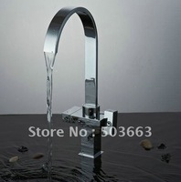 Kitchen Faucet Polished Chrome Mixer Brass Basin Double Handles Tap CM0884
