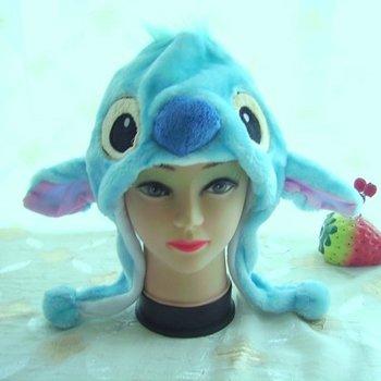 Punk Style Wholesale 10pc/lot Short style Stitch animal hat super warm plush caps Soft Animal cartoon hat