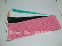 Free Shipping,200pcs USB flexible foldable silicone keyboard for pc Notebook Waterproof,dustproof silica soft Portable Roll-Up