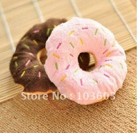 Pet dog and cat toys, cute sweet bread ring, talking plush toy, Dim sum toys, 20g  5pcs/lot+ Free Shipping