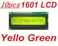 10pcs Yellow Green 1601 16X1 Character LCD Display Module / LCM SPLC780D STN