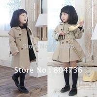 Autumn 2012 the new Children's shawl coat girls Korea overcoats Outerwear