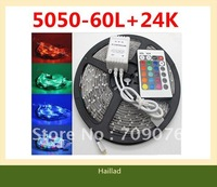 Zero Profit Wholesale!10set/lot,5050 RGB Color 300Leds/5m with 24 Key Controller Set Sale,DHL/EMS Free Shipping