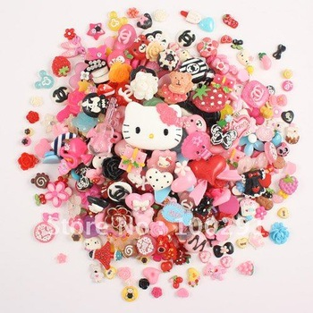 free ship!!!200pcs/lot lovely kawail DIY decoration cell phone Nail beauty ornament Design