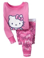 80 style! Baby Pajamas sets / Children clothing 2 pieces /long sleeve T shirt + pant / boy girl lovely suits 100 cotton