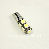 10pcs/lot Canbus T10 9 5050-SMD 3-chips LED White Light Bulb ERROR FREE License Plate  free shipping