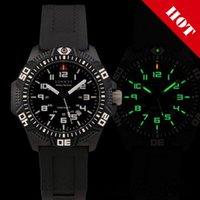 High Quality Military Watch Brand Mens Titanium Carbon Fiber Tritium gas Waterproof Dive Quartz watch Sport Men Watch E6024w