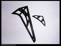 Carbon Fiber Horizontal/Vertical Rear Stablizer & Tail Fin tail Trex 450 Pro New