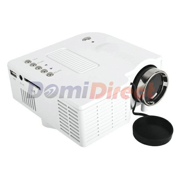 Lowest price!!! mini Portable White LED Digital Projector AV USB input(China (Mainland))