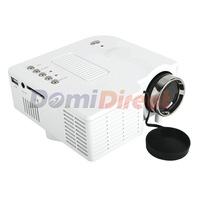 Lowest price!!!  mini Portable White LED Digital Projector AV USB input