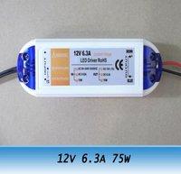 12V 6.3A led light transformer LED strip power supply adapter 75W 10PCS