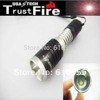 TrustFire Z8 Stainless Steel + Aluminum Alloy CREE XML T6 1000LM 3-Mode Lens LED Flashlight (1x14500)