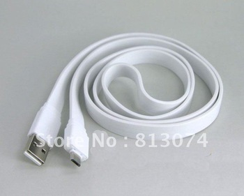 Free shipping 500pcs/lot 1.5M Flat Slim High Speed USB 2.0 Extension Cable  Male to Female Cord AM/AF