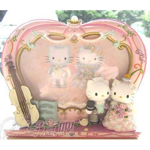 Kitty And Daniel Wedding Hello Kitty Photo Frame Free Shipping(China (Mainland))