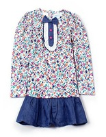 2012 autumn child baby girls clothing 100% cotton long-sleeve T-shirt print