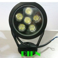 6W Waterproof IP65 LED Flood Light outdoor Underwater Floodlight White 12V or 110V-240V Free Shipping 1pcs/lot