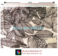Special Offer for Last Minute: Knitted Printing Fabric with leaf design for underwear / swimwear    Lycra & Micro Nylon