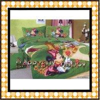 Minnie mouse girls Three-piece Cartoon Single Bedding Set Gift Wholesale Free Shipping