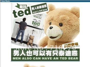 Free shipping! 60cm Teddy Bear Ted Plush Dolls Man's Ted Bear Stuffed Plush Toys