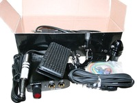 free shipping 2012 low price dragonfly tattoo machine+power+padel+clip cord+2 grip + adjustable tools