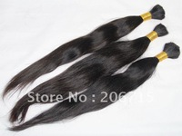Loks hair: bulk hair, natural straight ,14''-26'' (New arrival) no minimum order