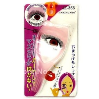 Free Shipping New Professional Beauty Makeup 3 in 1 Eyeliner Eyelashes Curler Clip Make Up Card Tool
